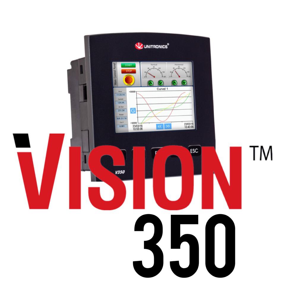 Unitronics V350 3 5 inch HMI and PLC | Integrated PLC & HMI