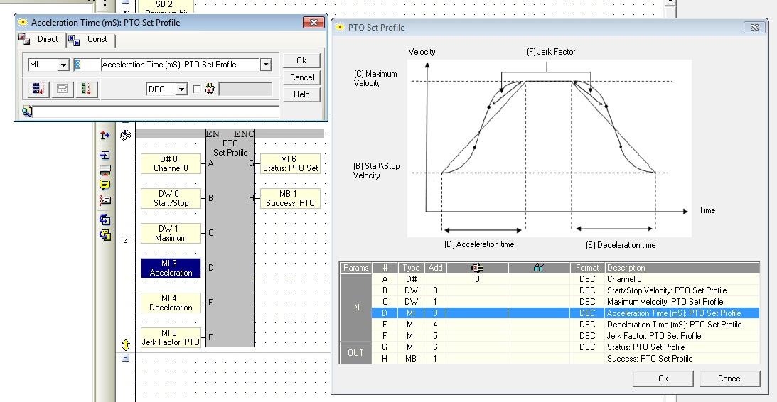 Unitronics pulse train output function blocks | Hyundai