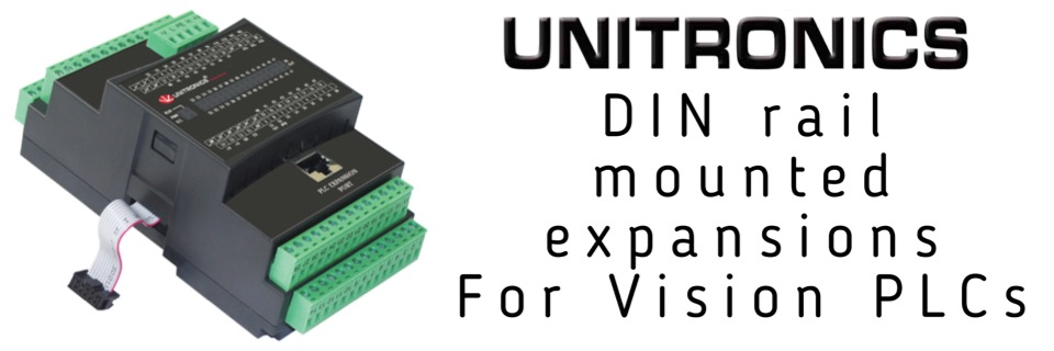 Din rail mounted expansions for Vision PLCs