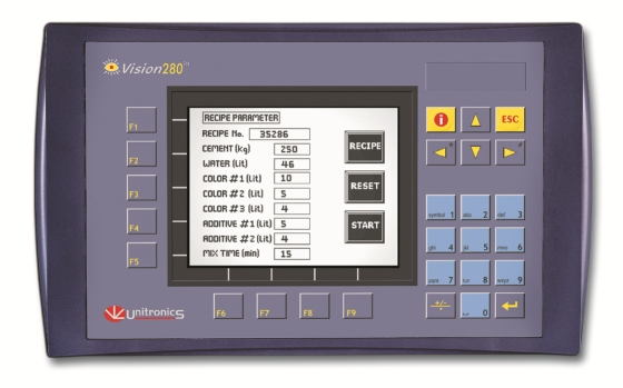 v280_1 unitronics vision standard series integrated plc & hmi  at mifinder.co